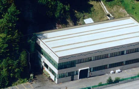 La superficie produttiva di Gabrieli e Mega a Vestone provincia di Brescia